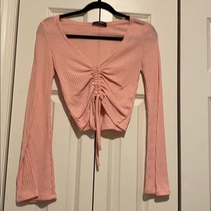 Shein pink cinch top